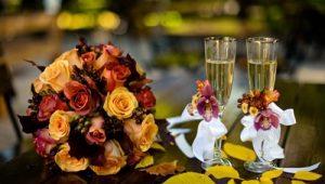 Свадьба на осеннюю тематику