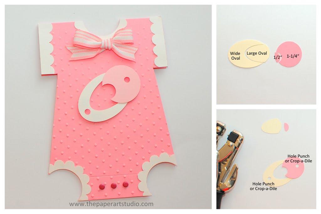 Как сделать открытку в виде детского бодика