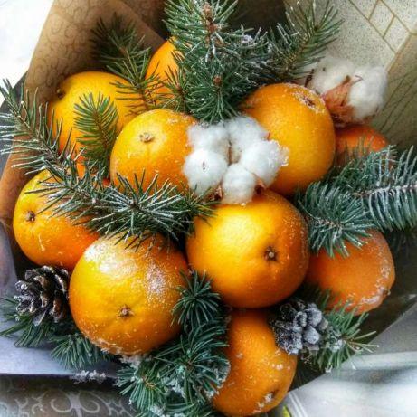 Зимний букет из апельсинов