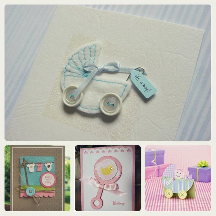Идеи открыток на рождение ребенка своими руками