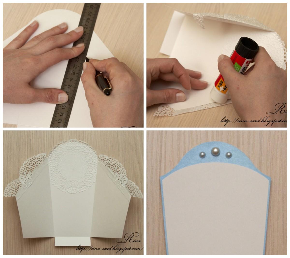 Как сделать открытку на рождение ребенка в виде конверта