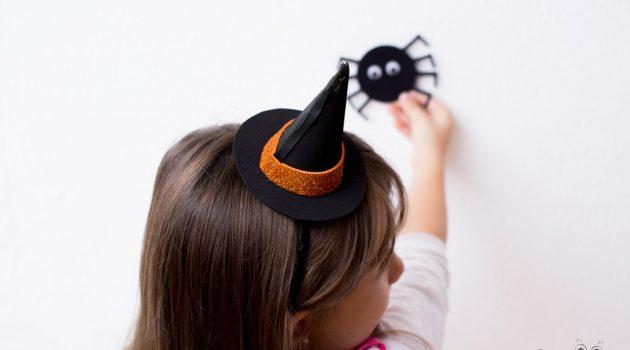 Шляпка ведьмы на ободке для волос