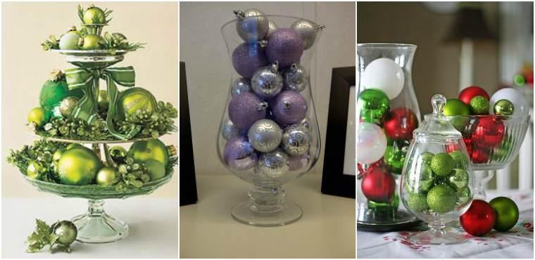 Ёлочные шары в вазе