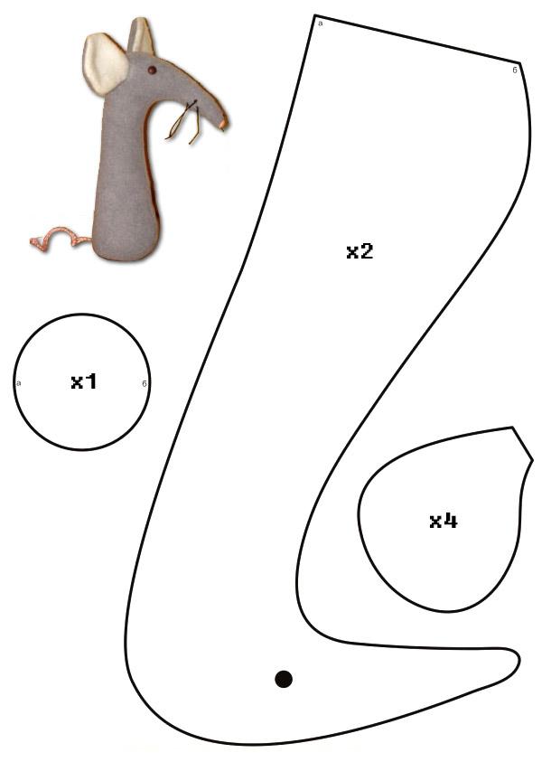 Выкройки крыс из фетра