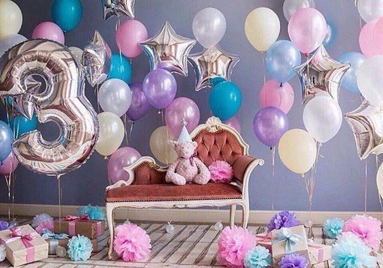Как украсить детский день рождения шарами
