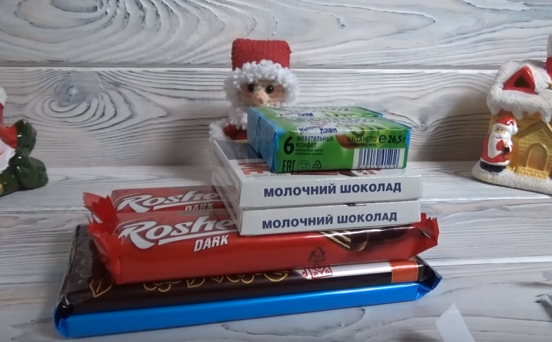 Сани из конфет мастер-класс