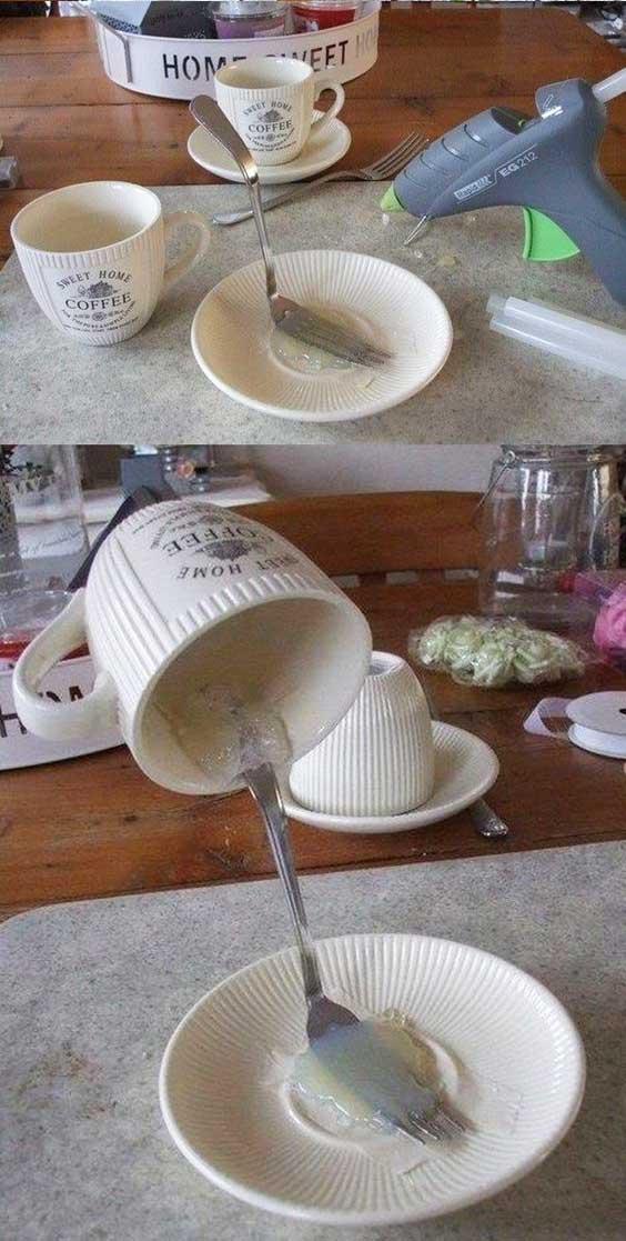 Как сделать парящую чашку МК