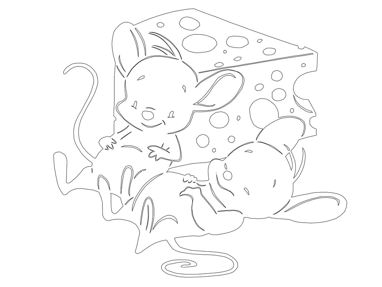 Шаблоны на окна с мышами