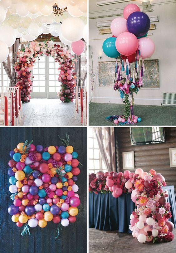 Как украсить праздник гелиевыми шарами