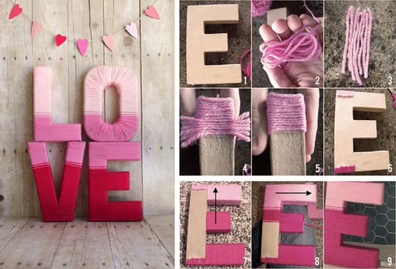 Плетеные буквы к 14 февраля