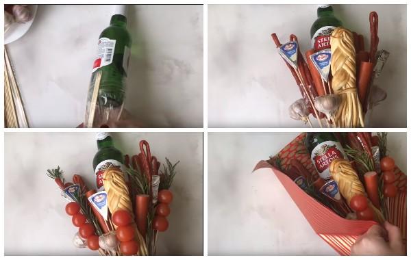 Как сделать съедобный букет своими руками