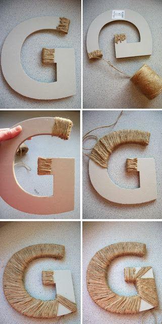 Винтажные декоративные буквы своими руками