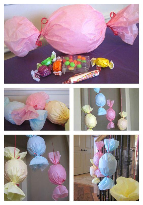 Гигантские конфеты из воздушных шариков мастер-класс
