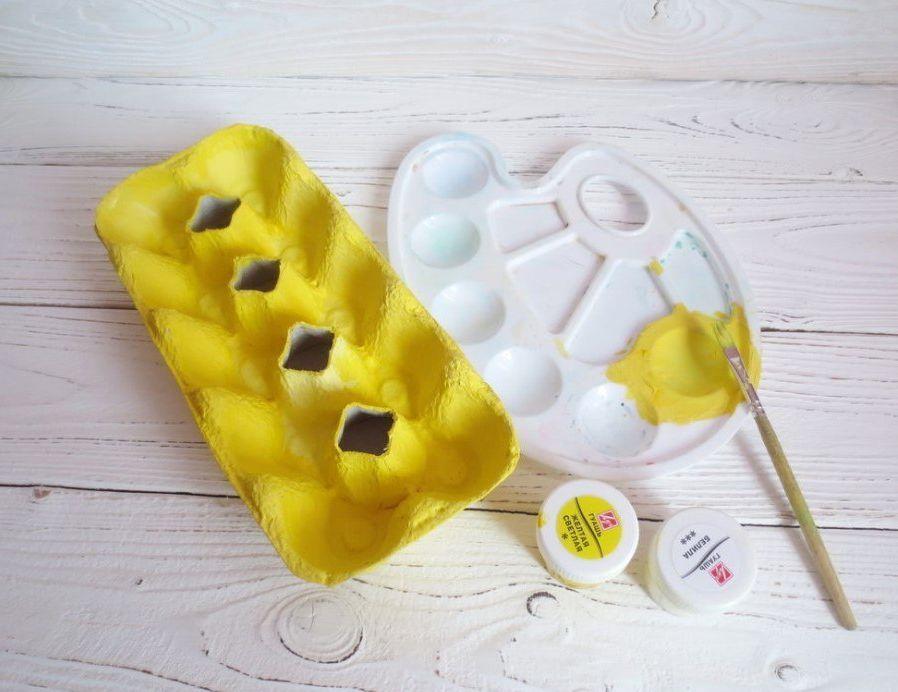 Поделки на пасху из яичных лотков