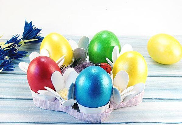 Пасхальные корзинки из яичных лотков: идеи и мастер-классы