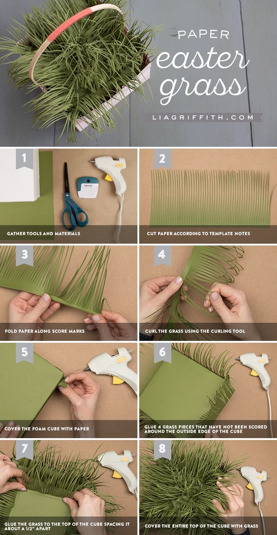 Как сделать травку из бумаги