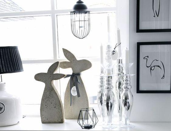 Декоративные кролики из гипса или бетона своими руками