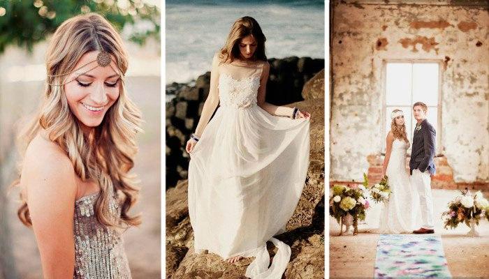 Образ невесты для свадьбы в стиле лофт