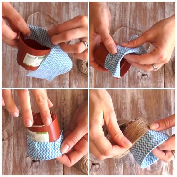 Оформление горшочка для пасхальной поделки