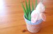 Кролик в горшочке: простая поделка на Пасху своими руками