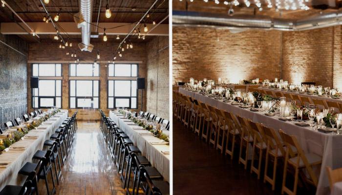 Помещение для свадьбы в стиле лофт