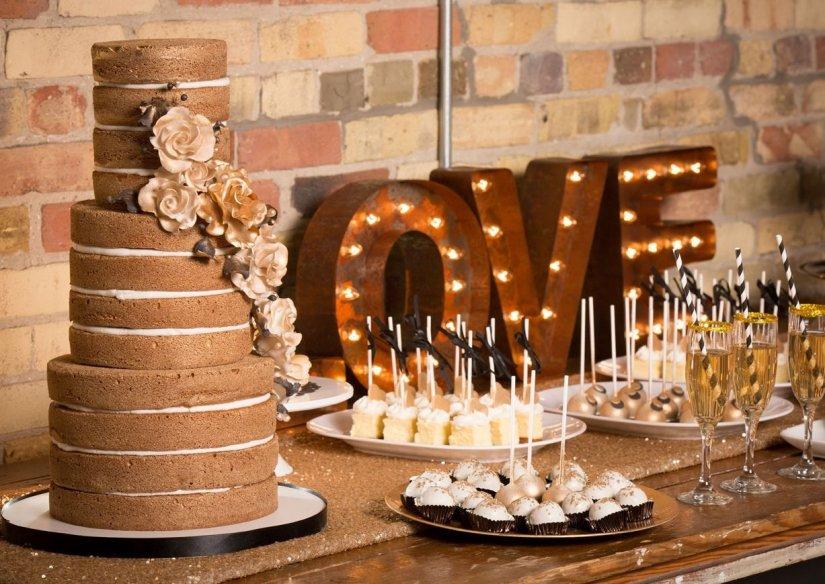 Свадебный торт в стиле лофт