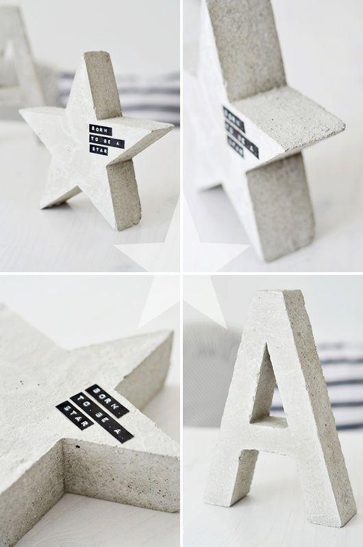 Фигуры из губки и бетона своими руками