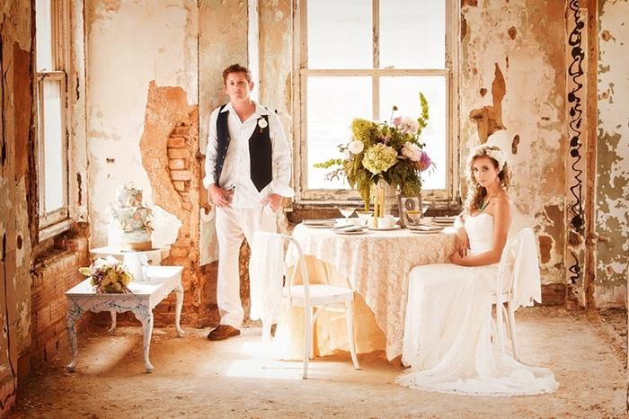 Образы жениха и невесты для свадьбы в стиле Лофт
