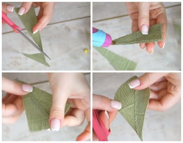 Как сделать листочек мимозы