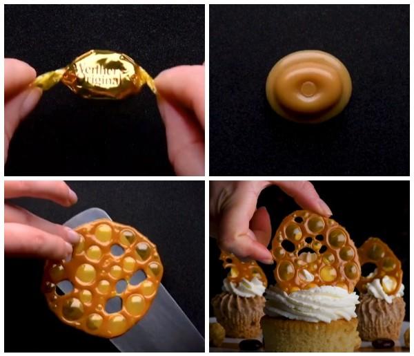 Украшение для десертов из карамелек