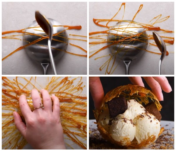 Как сделать круглую корзинку из карамели