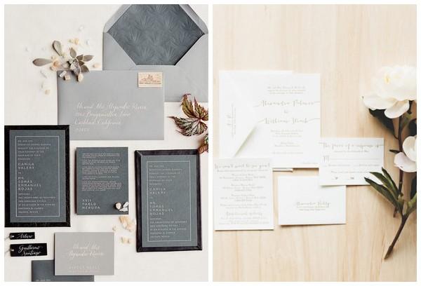 Свадебные приглашения в стиле минимализм
