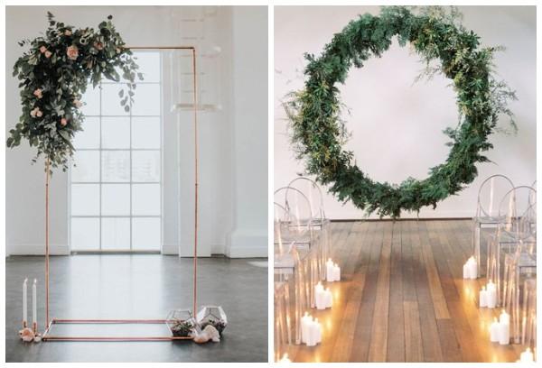 Свадебная арка в стиле минимализм