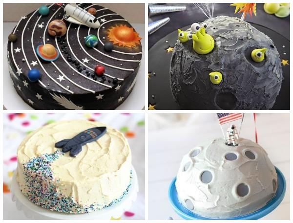 Торт в космическом стиле