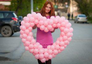 Как сделать объемное сердце из шаров своими руками