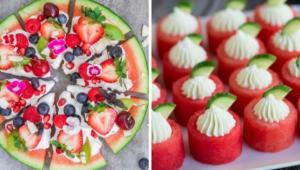 Изысканные закуски и салаты из арбуза