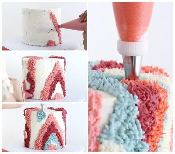 Как украсить торт кремом своими руками