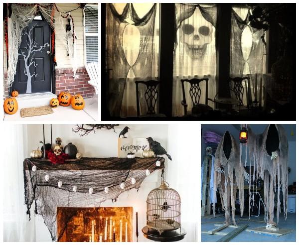 Декор из марли на Хэллоуин