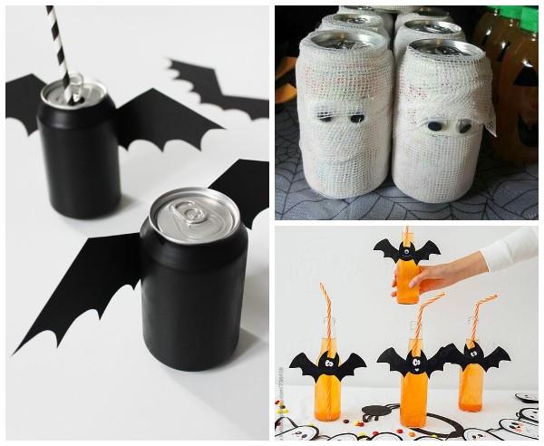 Украшение напитков на Хэллоуин