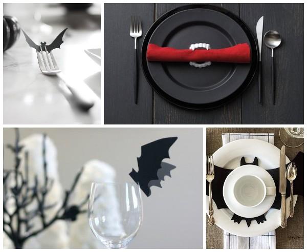 Украшение тарелок на Хэллоуин