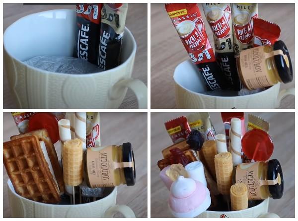 Как собрать сладкий букет