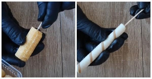 Как подготовить элементы для сладкого букета