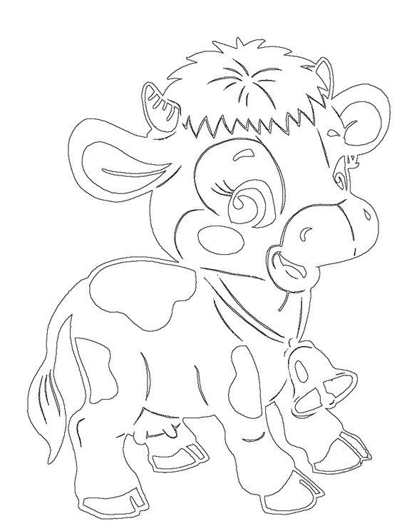 Шаблоны и трафареты быка, коровы